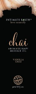 Intimate Earth INTIMATE EARTH CHAI MASSAGE OIL FOIL SACHET 1OZ #