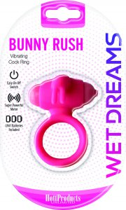 HOTT Products WET DREAMS BUNNY RUSH COCKRING W/ RABBIT EARS #HO3
