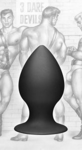 XR Brands TOM OF FINLAND ANAL PLUG MEDIUM SILICONE #XRTF1854