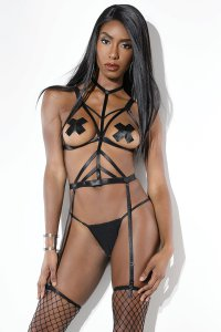 Coquette Lingerie STRAPPY BODY HARNESS O/S #CQD9374