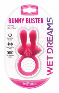 HOTT Products WET DREAMS BUNNY BUSTER COCK RING W/ TURBO BUNNY M